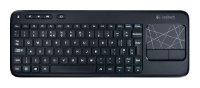 Logitech Wireless Touch Keyboard K400 Black USB