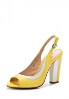 Босоножки на каблуке Dino Ricci 227-37-11 жёлтые