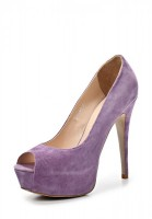 Туфли на каблуке Dali 163-703-3-21 фиолетовые