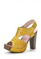 Босоножки на каблуке MIA MIANTI 904-16-03 жёлтые