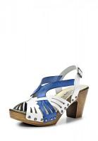Босоножки на каблуке El Tempo SPA3_13251_BLANCO-AZUL белые, синие