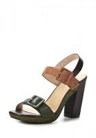Босоножки на каблуке Laura Valorosa 417567/02#3 зеленые, коричневые