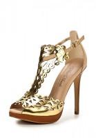Босоножки на каблуке MIA MIANTI 1607-09-01 золотистые