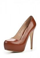 Туфли на каблуке Zumita CH61-81-E146 коричневые