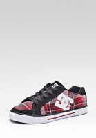 Кеды DC Shoes D0302154 красные, чёрные