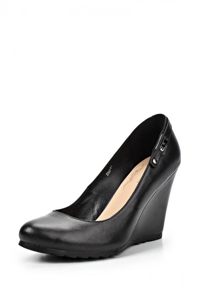 Чёрные туфли на танкетке купить