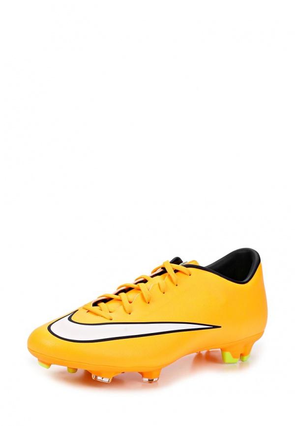 Бутсы Nike 651632-800 оранжевые