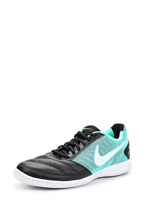 Бутсы зальные Nike 580453-401 голубые, чёрные