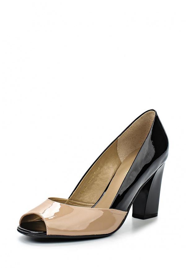Туфли Indiana 5854-151-255 бежевые, чёрные