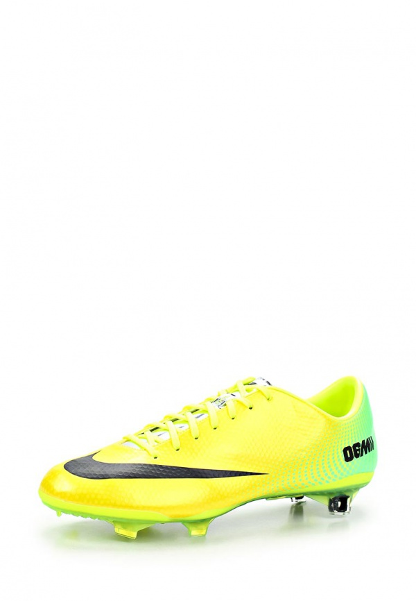 Бутсы Nike 555605-703 жёлтые, зеленые
