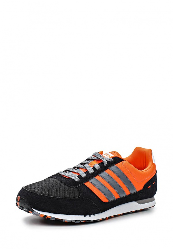 Кроссовки adidas Neo F97877 оранжевые, чёрные