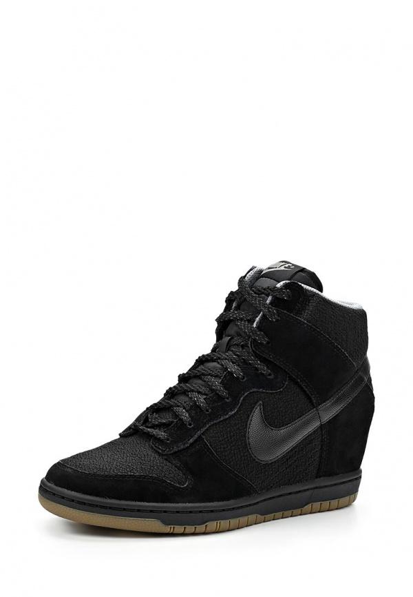 Кеды на танкетке Nike 644877-006 чёрные