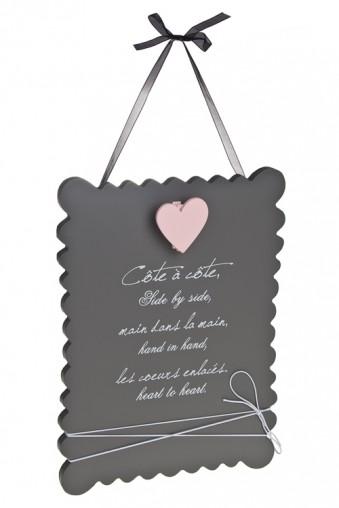 """Украшения на стену Украшение для интерьера с держателем для фото """"Сердце к сердцу"""""""