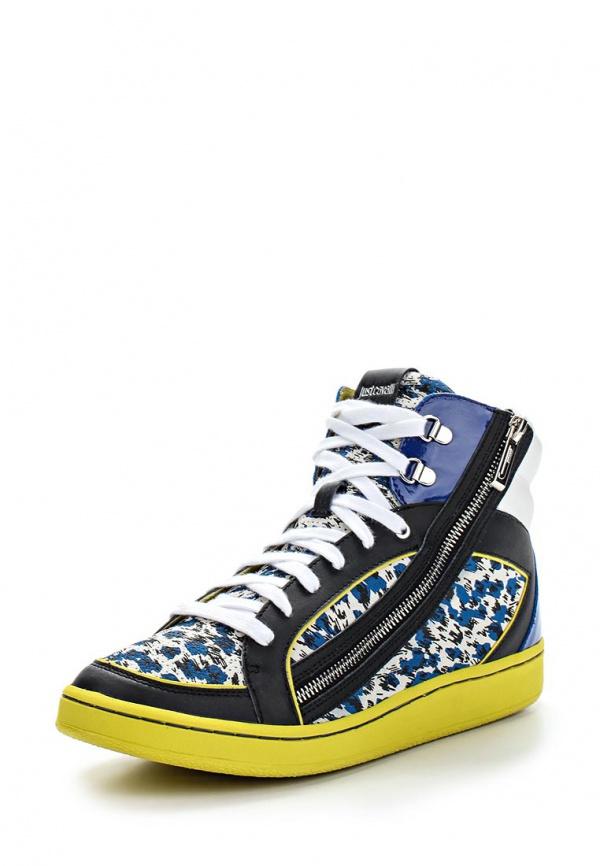 Кеды Just Cavalli S08WS0054N08011476S жёлтые, синие, чёрные