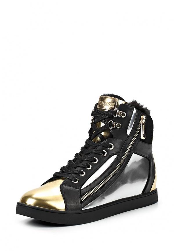 Кеды Just Cavalli S13WS0028N10078905 золотистые, мультиколор, серебристые, чёрные