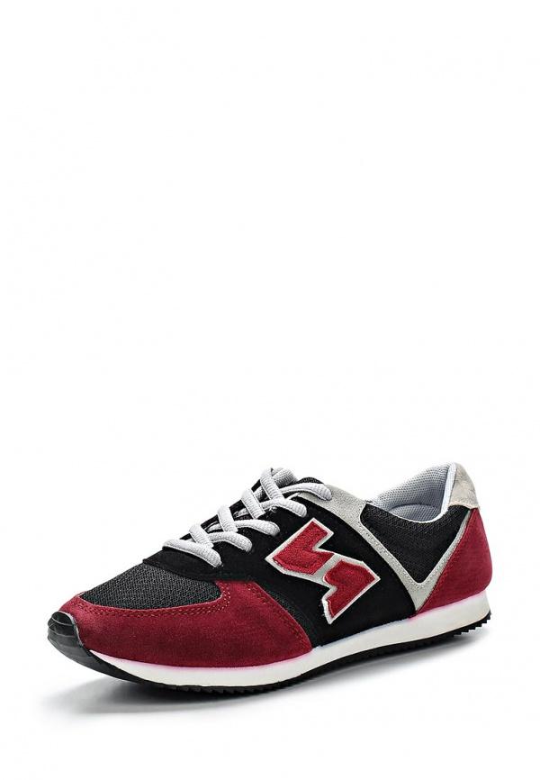 Кроссовки WS Shoes 802 бордовые, серые, чёрные