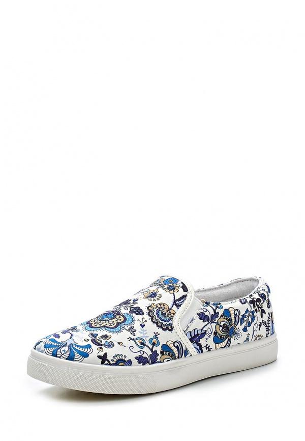 Слипоны WS Shoes AM-23 белые, синие