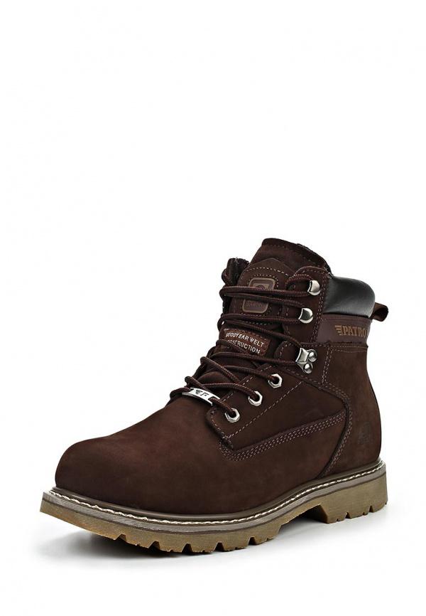 Ботинки Patrol 456-103M-15w-4-2 коричневые