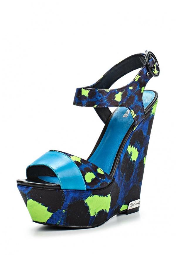 Босоножки Just Cavalli S09WP0036N37496520S зеленые, синие