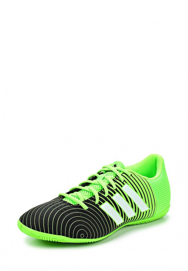 Бутсы зальные adidas Performance M19955 зеленые, чёрные