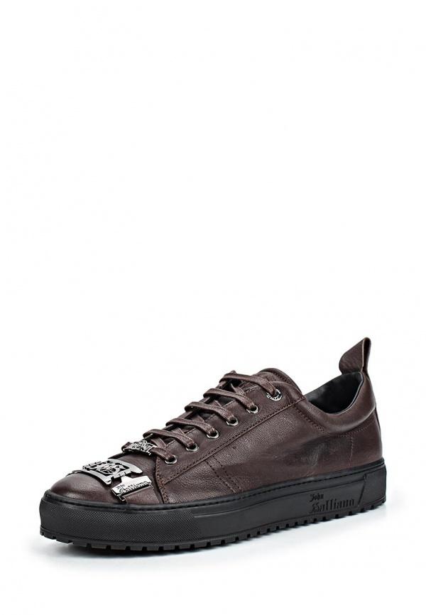 Кеды John Galliano 4713 коричневые