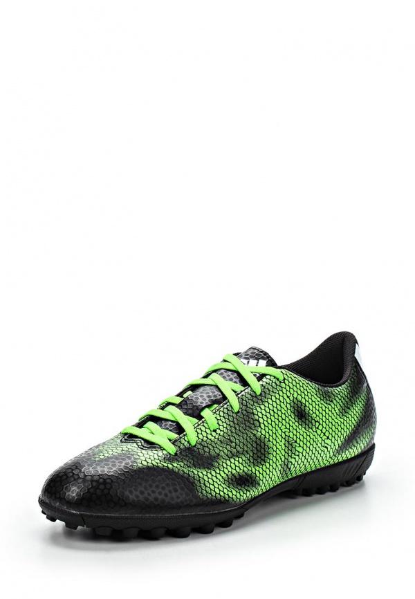 Бутсы зальные adidas Performance B35986 зеленые, чёрные