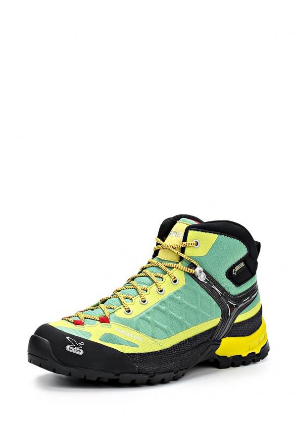 Ботинки трекинговые Salewa 00-0000063402 жёлтые, зеленые