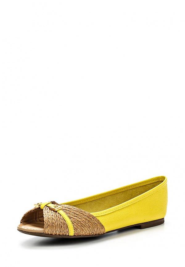 Балетки Dumond 4109856 жёлтые, коричневые