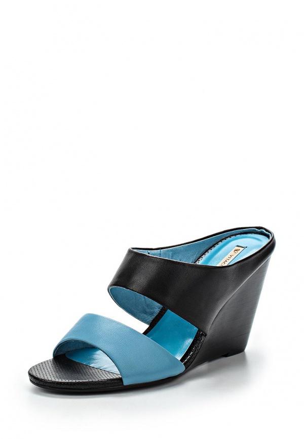 Сабо Vitacci 66193 голубые, чёрные