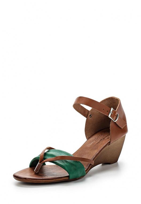 Босоножки Dino Ricci 843-33-01 зеленые, коричневые