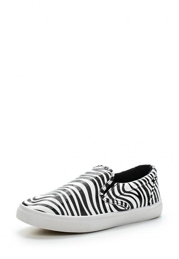 Слипоны WS Shoes AM-187 белые, чёрные