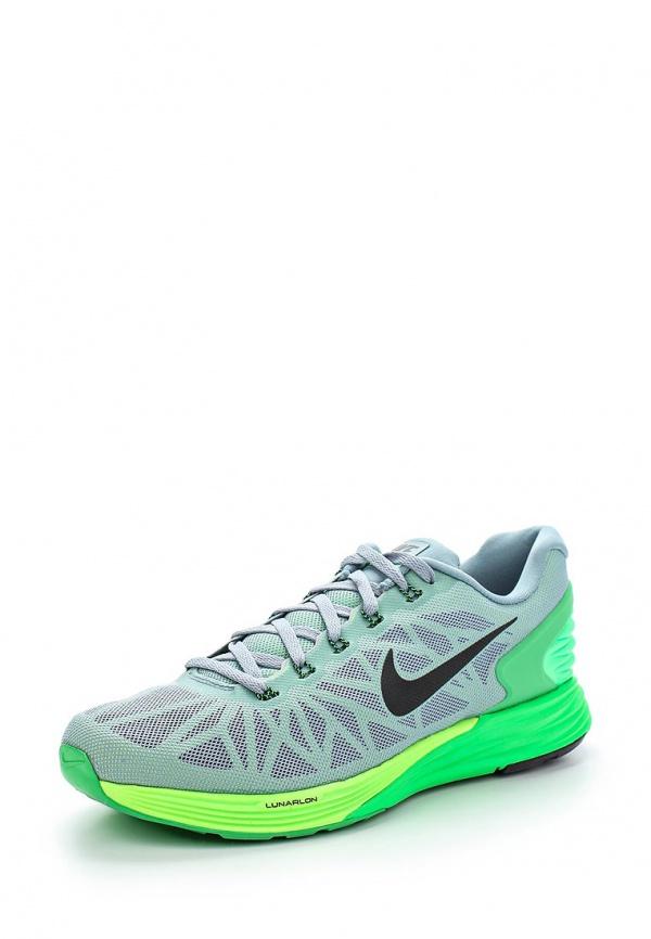 Кроссовки Nike 654433-011 зеленые, серые