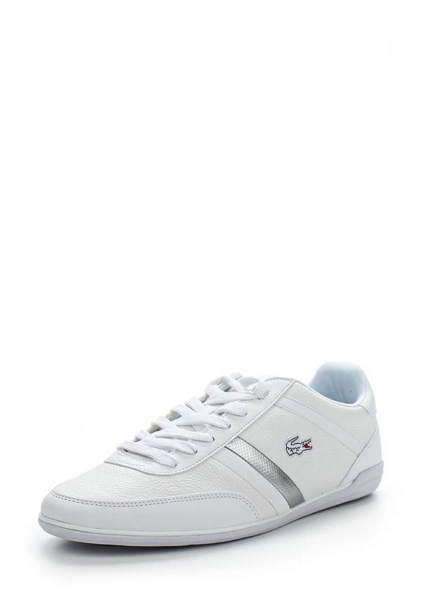 Кроссовки Lacoste SPM002521G белые, серебристые