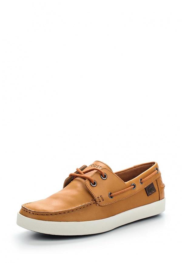 Топсайдеры Lacoste SRM2113013 коричневые, оранжевые