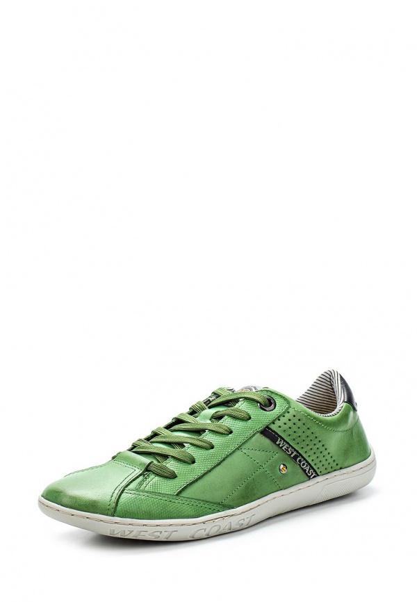 Кроссовки West Coast 110302-7 зеленые