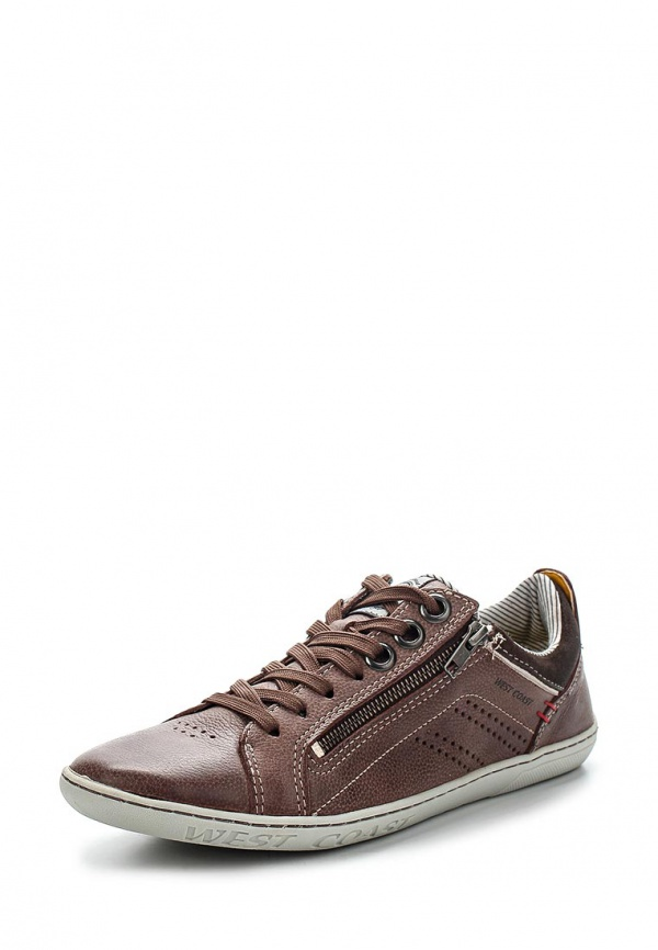 Кроссовки West Coast 110312-7 коричневые
