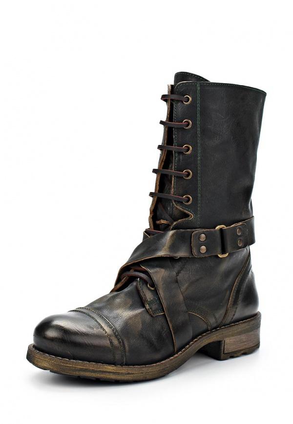 Ботинки Buffalo London 5002 B зеленые