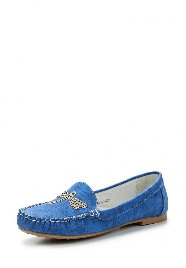 Мокасины Betsy 957648/02-04 голубые, синие