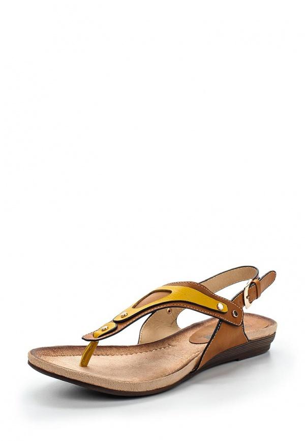 Сандалии Betsy 957770/01-04 жёлтые, коричневые