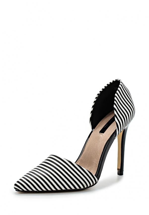 Туфли LOST INK. SS15LIW0211010003 белые, чёрные