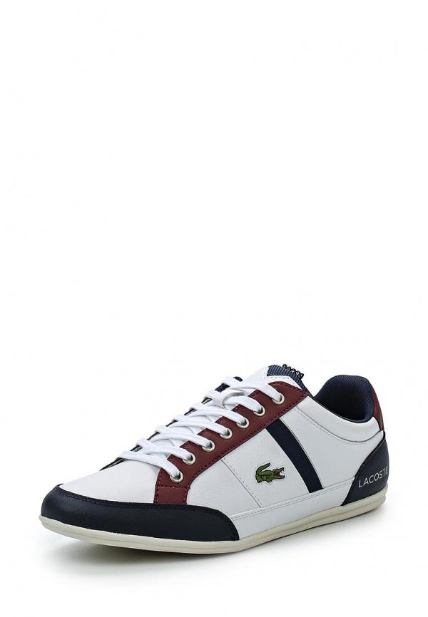 Кроссовки Lacoste SPM0045X96 белые, коричневые, чёрные