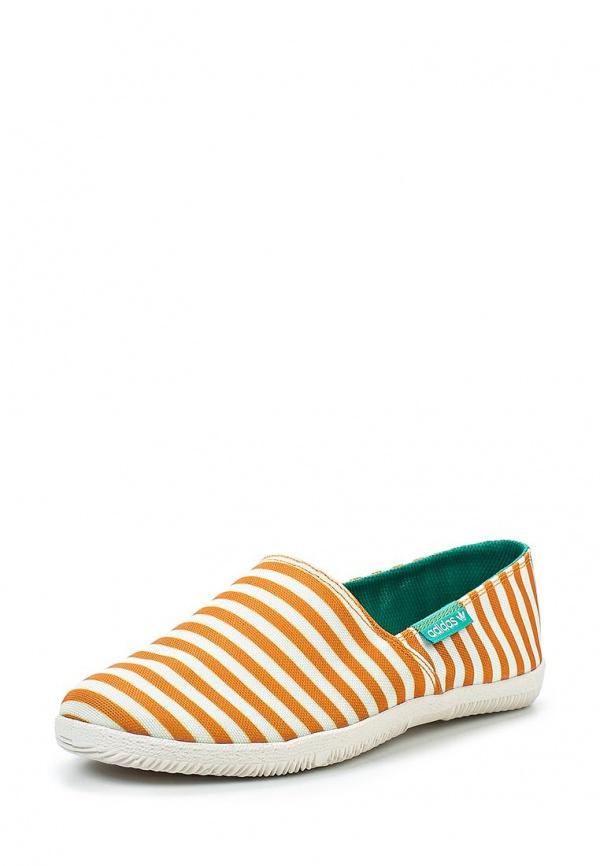 Слипоны adidas Originals D65801 оранжевые