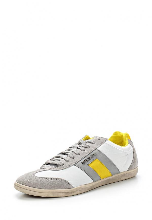 Кроссовки Diesel P5Y00830.P0570 белые, жёлтые, серые