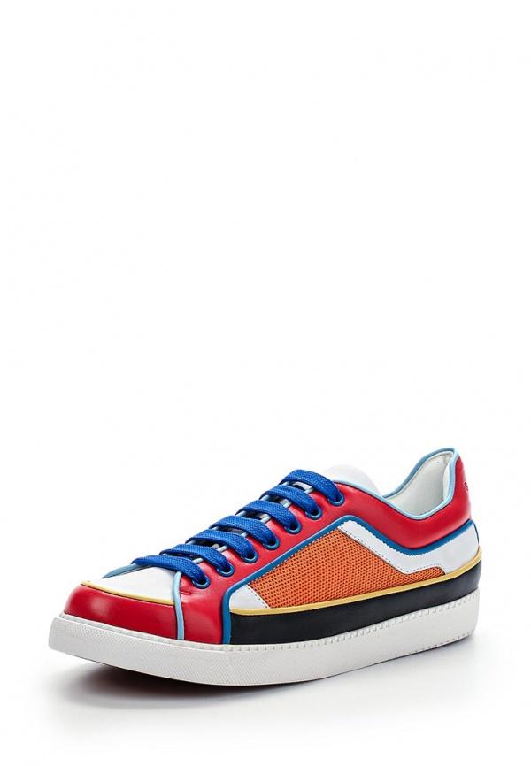 Кеды See by Chloe SB24062 00077 белые, красные, оранжевые, синие, чёрные