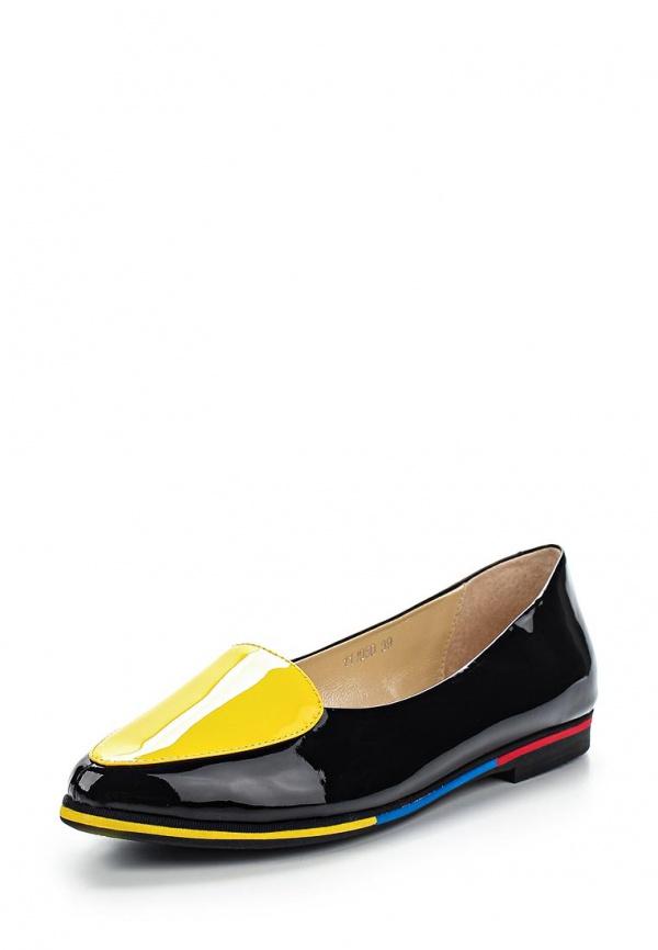 Лоферы Vitacci 111050 жёлтые, чёрные
