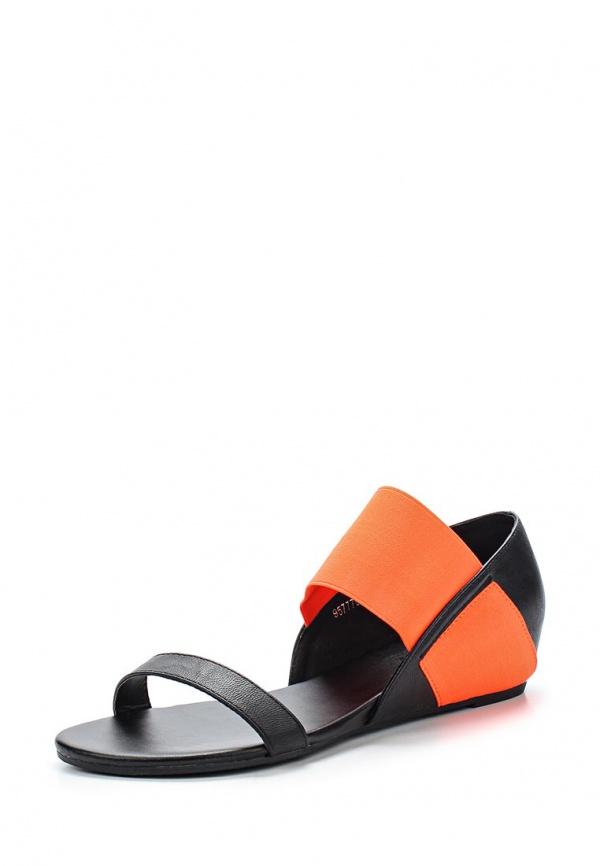 Сандалии Betsy 957778/01-03 оранжевые, чёрные