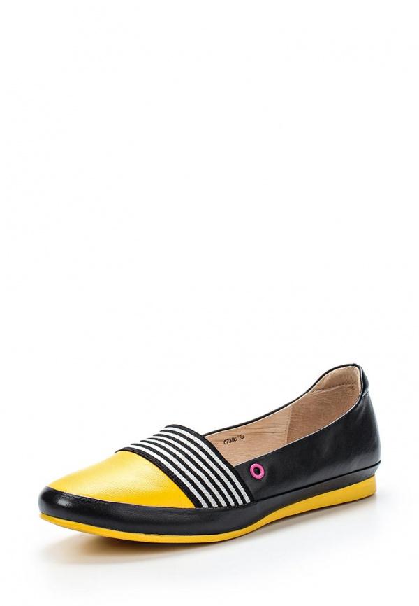 Лоферы Vitacci 67386 жёлтые, чёрные