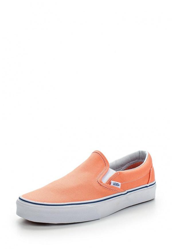 Слипоны Vans VZMRFRI оранжевые