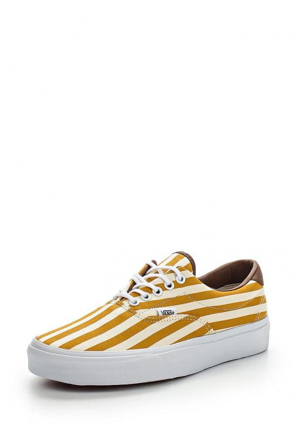 Кеды Vans VZMSFM7 белые, жёлтые