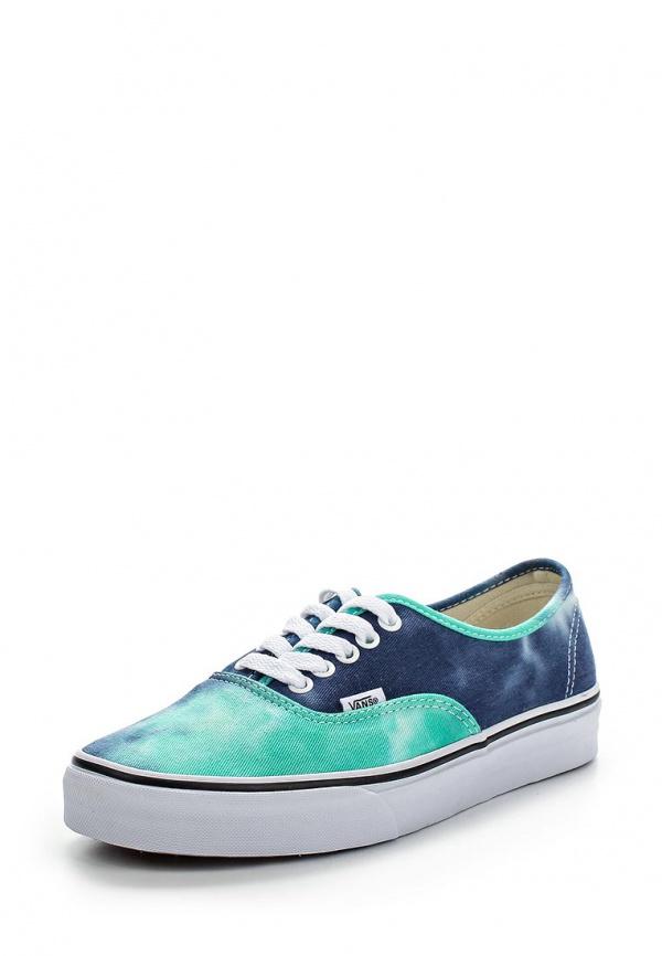 Кеды Vans VZUKFPZ зеленые, синие